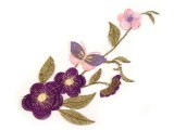 Nagy felvasalható hímzett virág