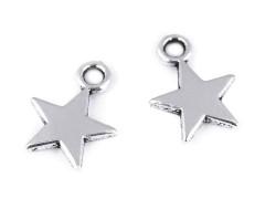 Csillag medál - 10 db/csomag Medál-, bross