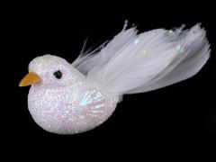 Dekorációs madár csillámokkal