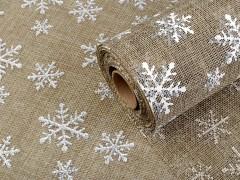 Karácsonyi juta imitáció - 4,5 m Len, Juta anyag