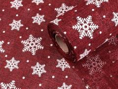 Karácsonyi juta imitáció - 5 m Len, Juta anyag