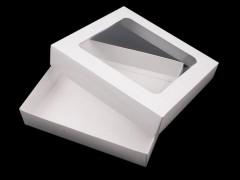 Papir doboz ablakkal - Fehér