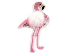 Felvasalhaó flamingó műszörrel Vasalható, varrható folt