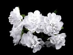 Dekor művirág 6 db/csokor Virág, toll, növény