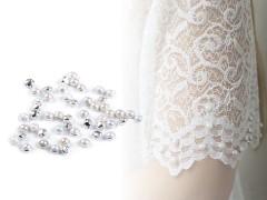 Felvarrható gyöngyök menyasszonyi ruhára - 50 db/csomag Esküvői díszítés