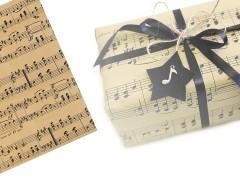 Csomagoló - dekorációs papír hangjegy - 4 ív Paris Papir,celofán,fólia