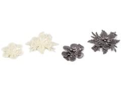 Dekor virág - 10 db/csomag Medál-, bross