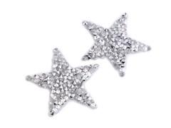 Felvasalható csillag kövekkel Vasalható, varrható folt