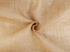 Dekorációs juta anyag - Drapp Dekorációs szövet