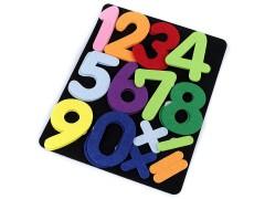 Filc tábla számokkal és ábécével Használati tárgy