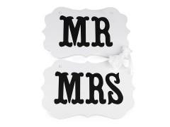 MR és MRS tábla akasztóval Használati tárgy