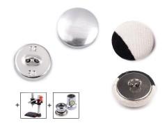 Behúzható fém gomb 16,5 mm - 100 db/csomag  Gomb, kapocs