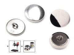 Behúzható fém gomb 25,4 mm - 100 db/csomag  Gomb, kapocs