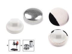 Behúzható fém gomb 28 mm - 100 db/csomag Gomb, kapocs