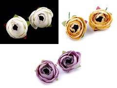 Mű rózsa - 2 db Virág, toll, növény