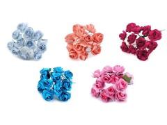 Rózsavirág csokor papír drót száron