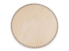 Alj kosárkészítéshez - 25 cm Fa,üveg dísz-, kellék