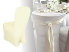 Elasztikus székhuzat - Ecru Esküvői díszítés
