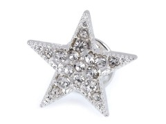 Csiszolt köves csillag bross Medál-, bross