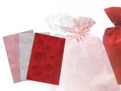 Ajándék zacskó szív 16x24,5 cm - 10 db Ajándék csomagolás