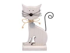 Fa cica dekoráció Dísztárgy,figura