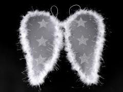 Angyal szárny tollakkal Karácsony