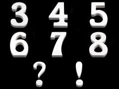 3D dekoráció számok Dísztárgy,figura