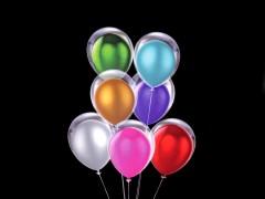 Felfújható fényes ballon szett Party kellék