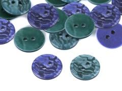 Batikolt mintás gomb 15,4 mm - 20 db Gomb, kapocs