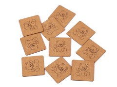 Felvarrható címke 10 db - Maci Vasalható, varrható folt