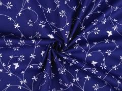 Pamut anyag kisvirágos - Kék
