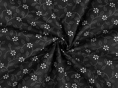 Folklor pamutanyag - Fekete