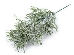 Mű faág glitterekkel behavazott - 5 szál Virág, toll, növény