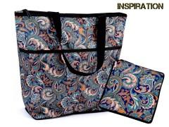 Összehajtható bevásárlótáska cipzárral erős - 10 szín Táska,pénztárca kellék