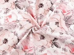 Elasztikus pamutanyag - Virágos