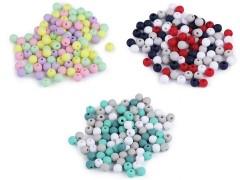 Műanyag gyöngy matt - 100 db/csomag Gyöngy-,gyöngyfűző