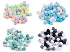 Műanyag gyöngy matt - 50 db/csomag Gyöngy-,gyöngyfűző
