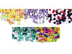 Műanyag gyöngy színes - 20 gr./csomag Gyöngy-,gyöngyfűző