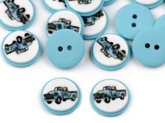 Autó mintás gomb 15,4 mm - 20 db Gomb, kapocs