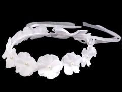 Alkalmi virágkoszorú - Fehér