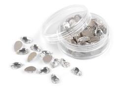 Csiszolt kövek könnycsepp felvarrhatók - 72 db/csomag