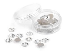 Csiszolt kövek felvarrhatók - 12 db/csomag