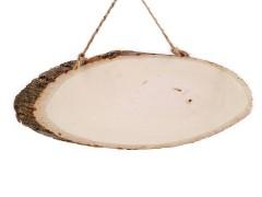 Fa tábla gyökérrel díszítésre Használati tárgy