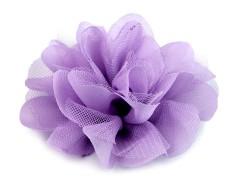 Szifon virág 80 mm - Lila Medál-, bross