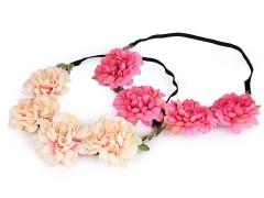 Rugalmas hajpánt virágokkal